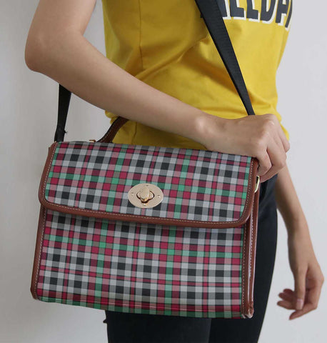 Tartan Bag - Borthwick Ancient Canvas Handbag A9