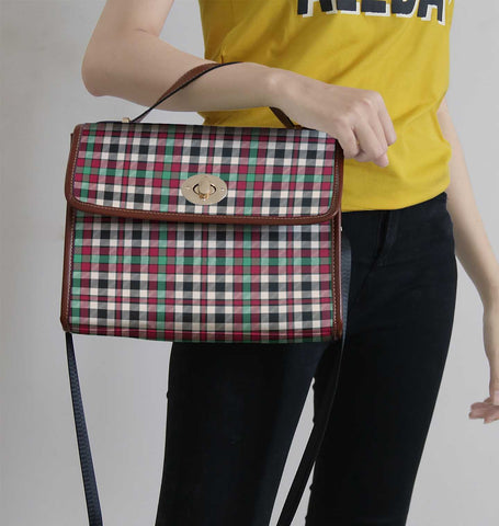 Image of Borthwick Dress Ancient Tartan Canvas Bag | Waterproof Bag | Scottish Bag