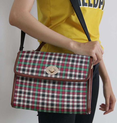 Image of Tartan Bag - Borthwick Dress Ancient Canvas Handbag A9