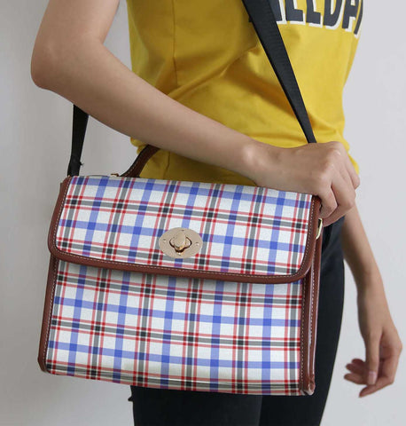 Image of Tartan Bag - Boswell Modern Canvas Handbag A9