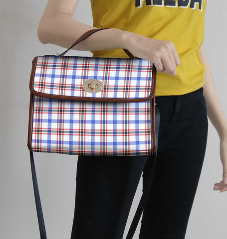 Boswell Modern Tartan Canvas Bag | Waterproof Bag | Scottish Bag