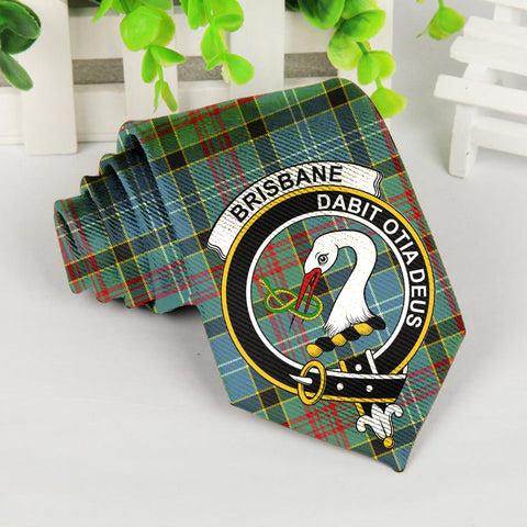 Brisbane Tartan Tie with Clan Crest TH8