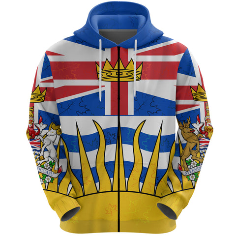 Canada British Columbia Zip Hoodie | Clothing | 1sttheworld