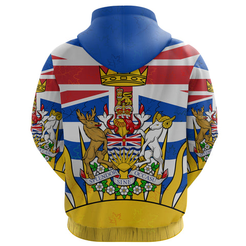 Canada British Columbia Hoodie back | Clothing | 1sttheworld