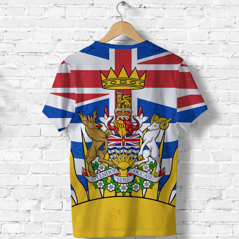 Canada British Columbia T Shirt back | Clothing | 1sttheworld