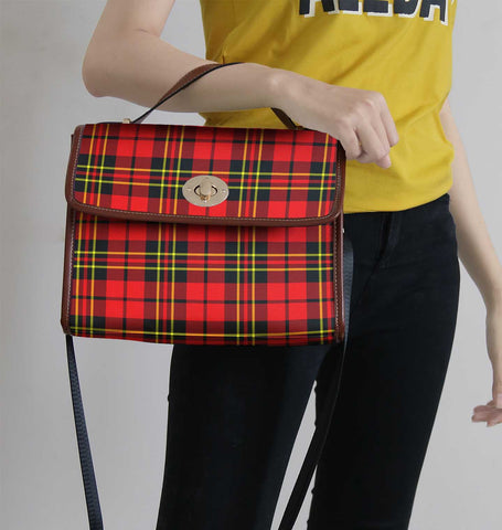 Brodie Modern Tartan Canvas Bag | Waterproof Bag | Scottish Bag