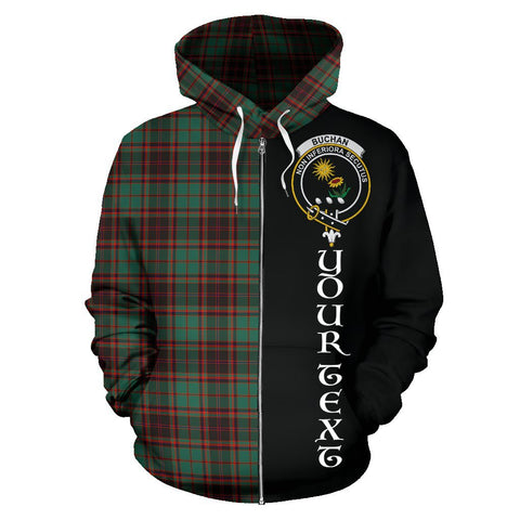 (Custom your text) Buchan Ancient Tartan Hoodie Half Of Me | 1sttheworld.com