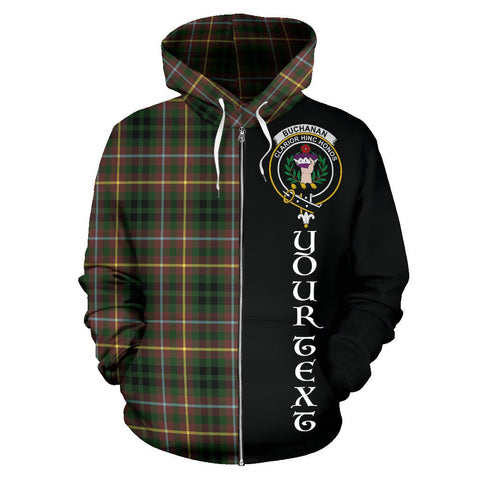 (Custom your text) Buchanan Hunting Tartan Hoodie Half Of Me | 1sttheworld.com