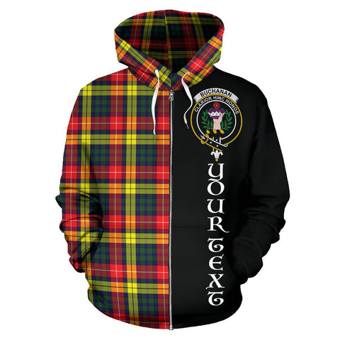 (Custom your text) Buchanan Modern Tartan Hoodie Half Of Me | 1sttheworld.com