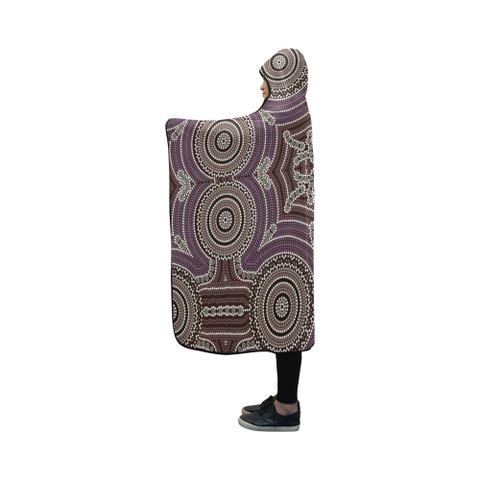 Image of Australia Aboriginal 09 Hooded Blanket H7 | Love The World
