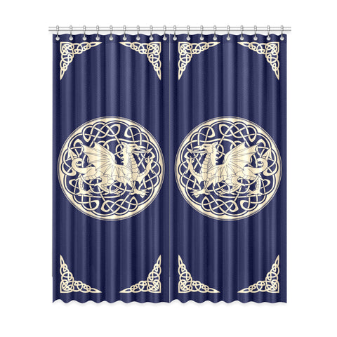 Image of Welsh Dragon Window Curtain - BN