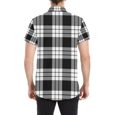 Tartan Shirt - Macfarlane Black & White | Exclusive Over 300 Clans and 500 Tartans