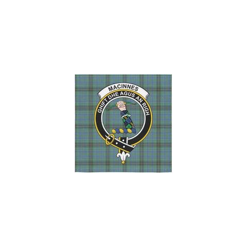 MacInnes Ancient Tartan Towel Clan Badge | 1sttheworld.com