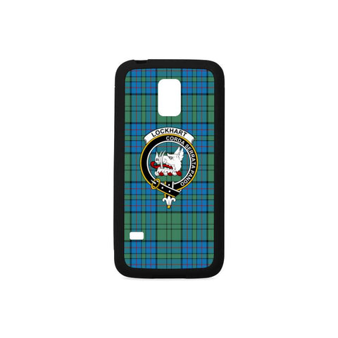 Image of Lockhart Tartan Clan Badge Rubber Phone Case HJ4