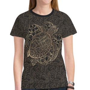 Hawaii Polynesian Turtle New All Over Print T-shirt H6