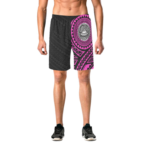 American Samoa Polynesian Beach Shorts Pink | Polynesian Clothing | Hot Sale