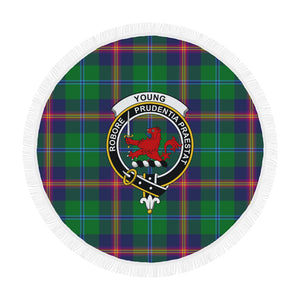 YOUNG MODERN CLAN BADGE TARTAN BEACH BLANKET th8