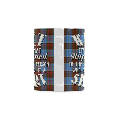 Image of ANDERSON MODERN TARTAN QUOTE WHITE MUG HJ4