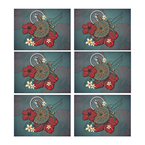 Chuuk Placemat - Blue Turtle Tribal A02