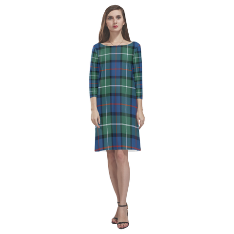 Davidson Of Tulloch  Tartan Dress - Rhea Loose Round Neck Dress NN5