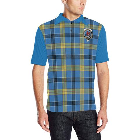 Image of Laing Clans Tartan Polo Shirt - Sleeve Color