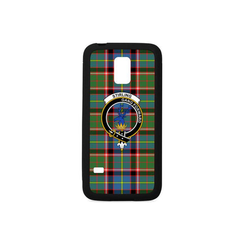 Stirling  Tartan Clan Badge Rubber Phone Case HJ4