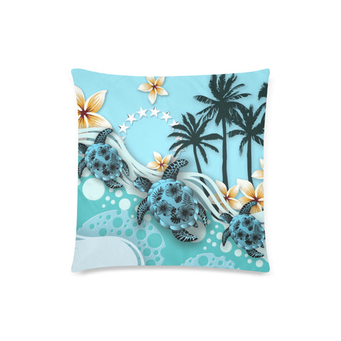 Cook Islands Pillow Cases - Blue Turtle Hibiscus | Love The World