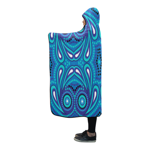 Image of Australia Aboriginal 06 Hooded Blanket H7 | Love The World