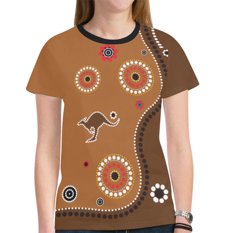 Australia Aboriginal All Over Print T-shirt NN9