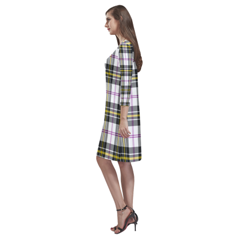Macpherson Dress Modern Tartan Dress - Rhea Loose Round Neck Dress - BN