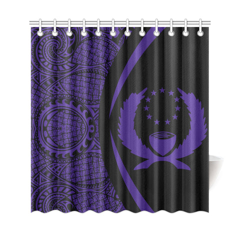 Pohnpei Micronesian Shower Curtain