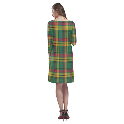 Image of Macmillan Old Ancient Tartan Dress - Rhea Loose Round Neck Dress NN5