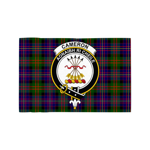 Image of Cameron of Erracht Modern Clan Crest Tartan Motorcycle Flag