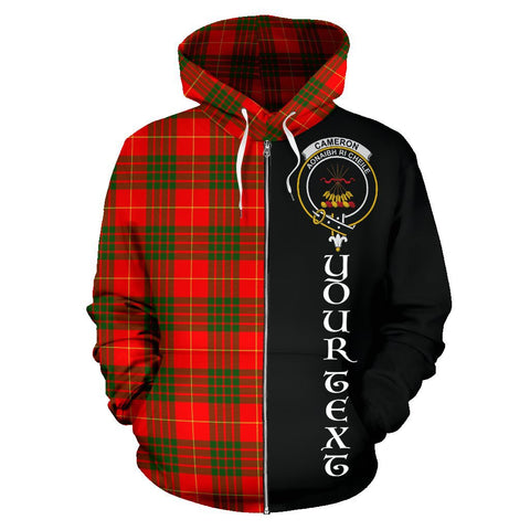 (Custom your text) Cameron Modern Tartan Hoodie Half Of Me | 1sttheworld.com