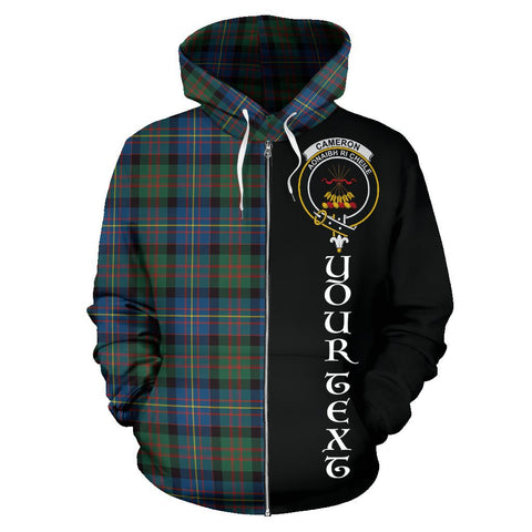 (Custom your text) Cameron of Erracht Ancient Tartan Hoodie Half Of Me | 1sttheworld.com