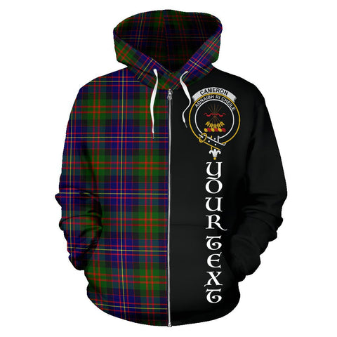 Image of (Custom your text) Cameron of Erracht Modern Tartan Hoodie Half Of Me | 1sttheworld.com