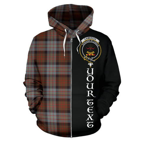 Image of (Custom your text) Cameron of Erracht Weathered Tartan Hoodie Half Of Me | 1sttheworld.com