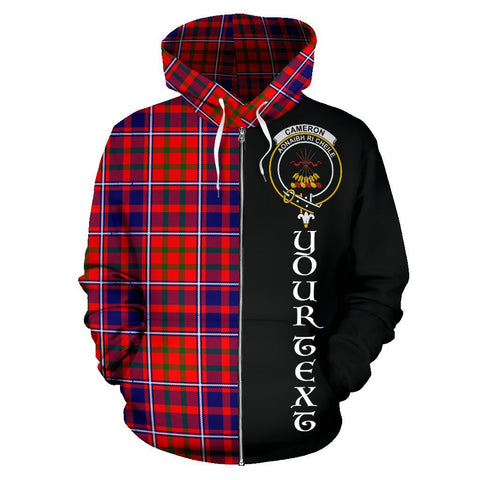 (Custom your text) Cameron of Lochiel Modern Tartan Hoodie Half Of Me | 1sttheworld.com