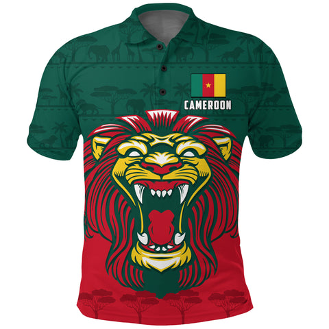 Image of Cameroon Polo Shirt Lion Green K4