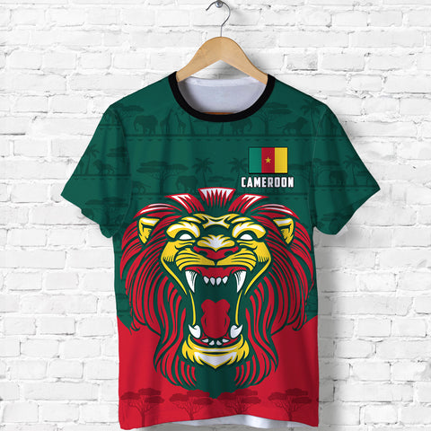 Image of Cameroon T Shirt Lion Green K4