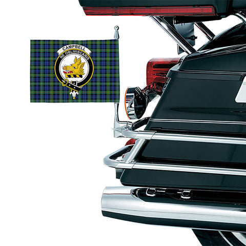Image of Campbell Argyll Ancient Clan Crest Tartan Motorcycle Flag