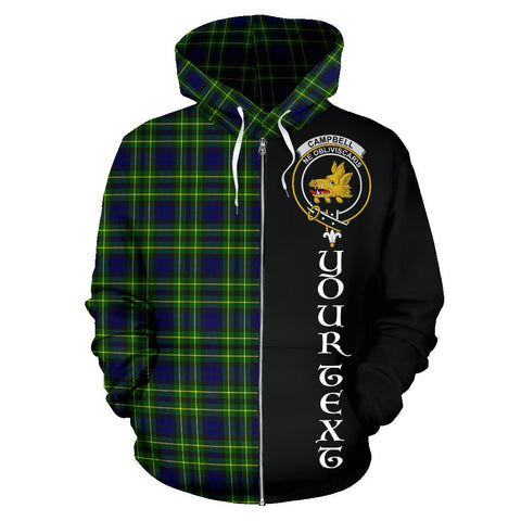 (Custom your text) Campbell of Breadalbane Modern Tartan Hoodie Half Of Me | 1sttheworld.com