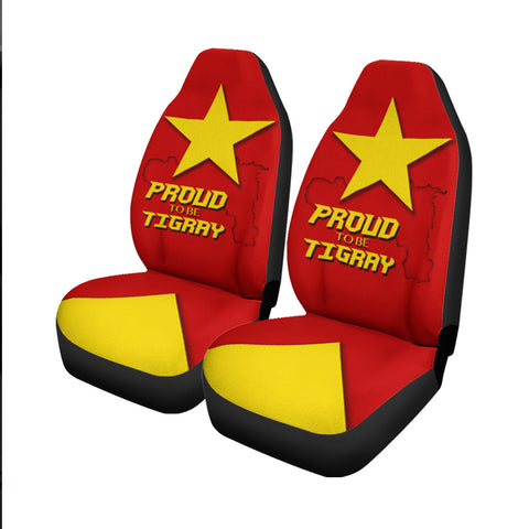 1stTheWorld Car Seat Covers - Proud To Be Tigray