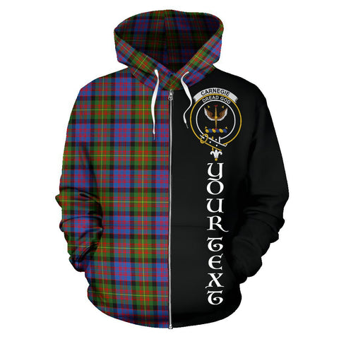 (Custom your text) Carnegie Ancient Tartan Hoodie Half Of Me | 1sttheworld.com