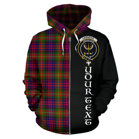 (Custom your text) Carnegie Modern Tartan Hoodie Half Of Me | 1sttheworld.com
