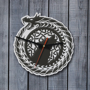 celtic wolf, wolf, celtic wall clock, wooden wall clock, online shopping, 1sttheworld, home decor, celtic