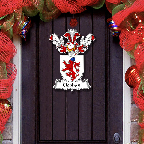"Clephan or Clephane Family Crest - Wood Wall Art 15"" A7"