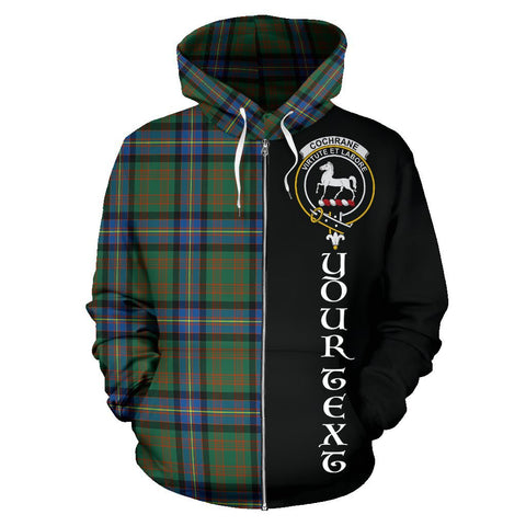 (Custom your text) Cochrane Ancient Tartan Hoodie Half Of Me | 1sttheworld.com