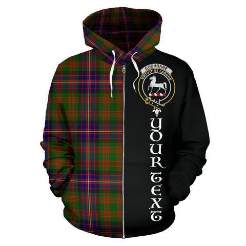 (Custom your text) Cochrane Modern Tartan Hoodie Half Of Me | 1sttheworld.com