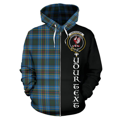(Custom your text) Cockburn Modern Tartan Hoodie Half Of Me | 1sttheworld.com
